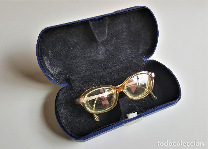ANTIGUAS GAFAS BRUGUERAS PEQUEÑAS PARA NIÑOS - LENTES CON MUY ALTO AUMENTO - 10.5.CM ANCHO GERMANY (Antigüedades - Técnicas - Instrumentos Ópticos - Gafas Antiguas)