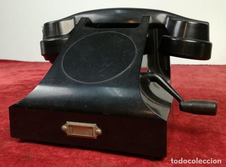 Teléfonos: FERROCARRIL. TELÉFONO ANTIGUO MAGNETO. ERICSSON. RENFE. (CIRCA 1950) MADRID - Foto 2 - 165925310