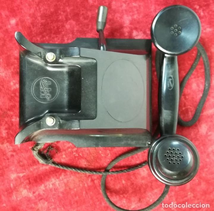 Teléfonos: FERROCARRIL. TELÉFONO ANTIGUO MAGNETO. ERICSSON. RENFE. (CIRCA 1950) MADRID - Foto 6 - 165925310