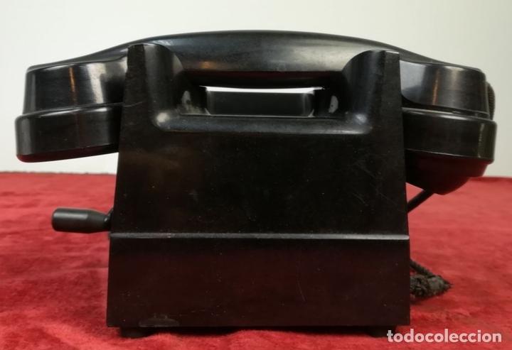 Teléfonos: FERROCARRIL. TELÉFONO ANTIGUO MAGNETO. ERICSSON. RENFE. (CIRCA 1950) MADRID - Foto 12 - 165925310