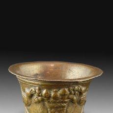 Antigüedades: MORTERO DE VENENO. BRONCE. SIGLO XVI.. Lote 165948770