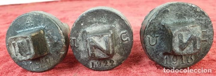 Antigüedades: FERROCARRIL. COLECCIÓN DE 15 TORNILLOS DE TRAVIESAS PARA VIAS FÉRREAS. SIGLO XX. - Foto 7 - 165952558