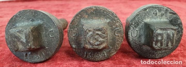 Antigüedades: FERROCARRIL. COLECCIÓN DE 15 TORNILLOS DE TRAVIESAS PARA VIAS FÉRREAS. SIGLO XX. - Foto 9 - 165952558