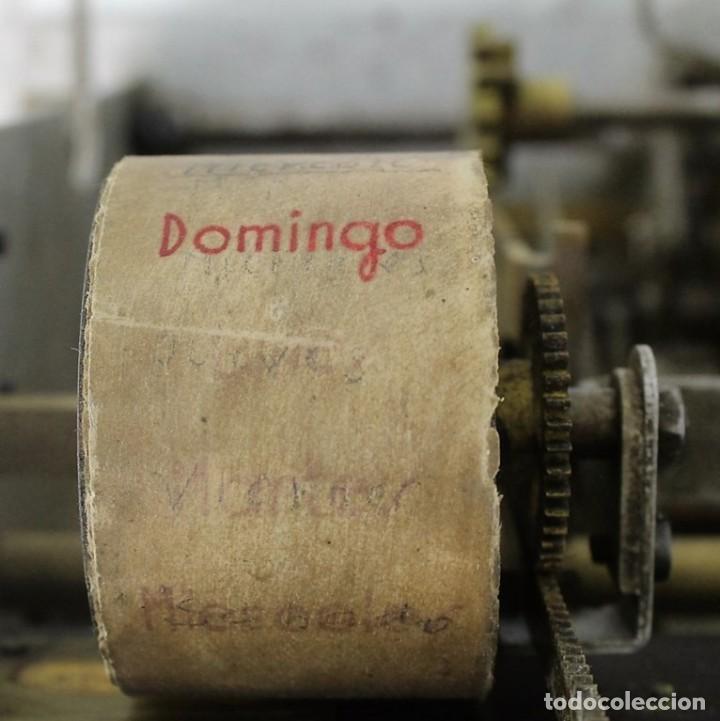 Antigüedades: Mecanismo de una antigua máquina de fichar,Kartenheber. - Foto 9 - 165954706