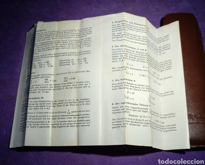 Antigüedades: Antigua regla de cálculo Aristo alemana como nueva. Ver fotos - Foto 4 - 165969393
