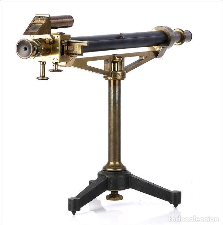 Antigüedades: Antiguo Polarímetro de Gran Tamaño Schmidt & Haensch. Alemania, 1885 - Foto 2 - 166003710