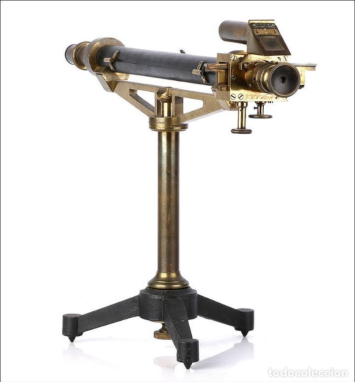 Antigüedades: Antiguo Polarímetro de Gran Tamaño Schmidt & Haensch. Alemania, 1885 - Foto 3 - 166003710