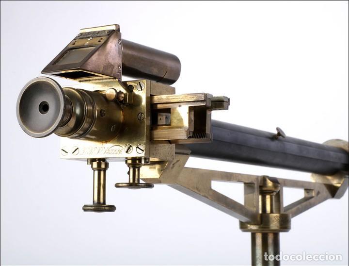 Antigüedades: Antiguo Polarímetro de Gran Tamaño Schmidt & Haensch. Alemania, 1885 - Foto 9 - 166003710