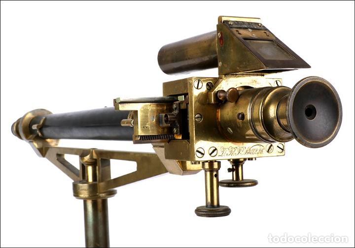 Antigüedades: Antiguo Polarímetro de Gran Tamaño Schmidt & Haensch. Alemania, 1885 - Foto 10 - 166003710
