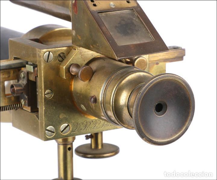 Antigüedades: Antiguo Polarímetro de Gran Tamaño Schmidt & Haensch. Alemania, 1885 - Foto 15 - 166003710