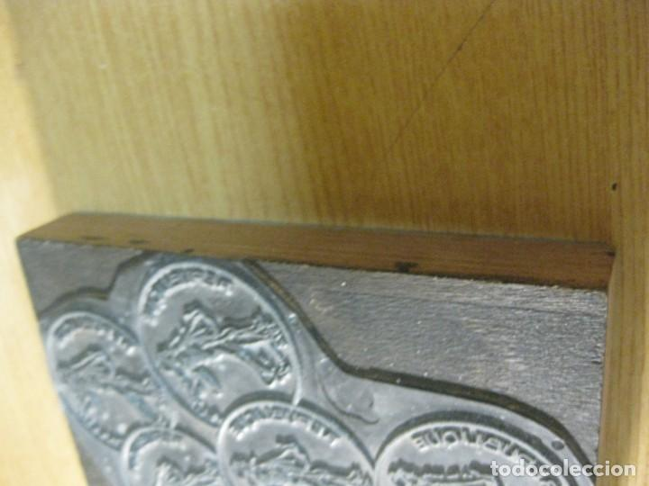 Antigüedades: ANTIGUO SELLO TAMPÓN CLICHÉ PLANCHA IMPRENTA republique francaise - base de madera 10 / 14 cm - Foto 3 - 166029458