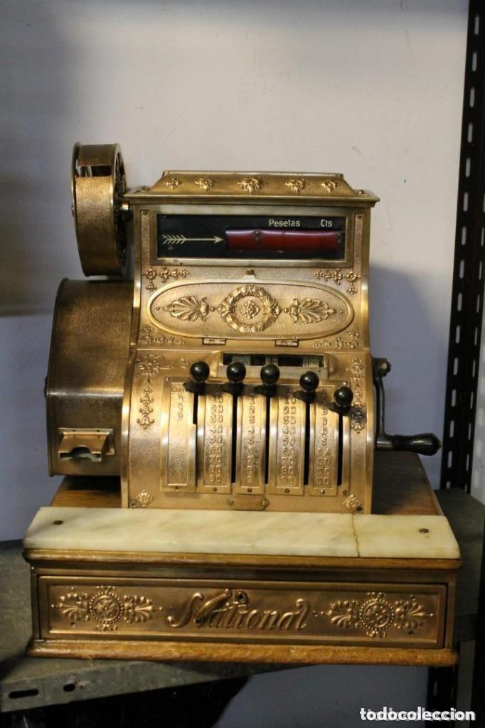 REGISTRADORA NATIONAL, HACIA 1915, PARA MERCADO ESPAÑOL (Antigüedades - Técnicas - Aparatos de Cálculo - Cajas Registradoras Antiguas)