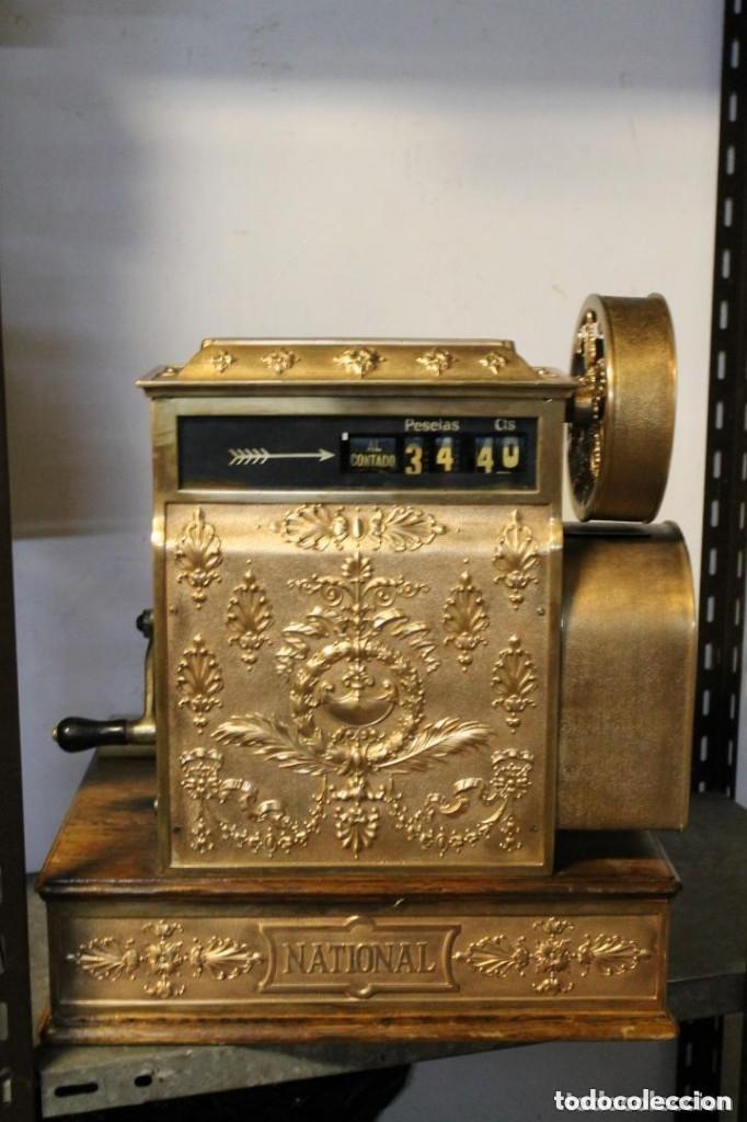 Antigüedades: REGISTRADORA NATIONAL, HACIA 1915, PARA MERCADO ESPAÑOL - Foto 3 - 166042718