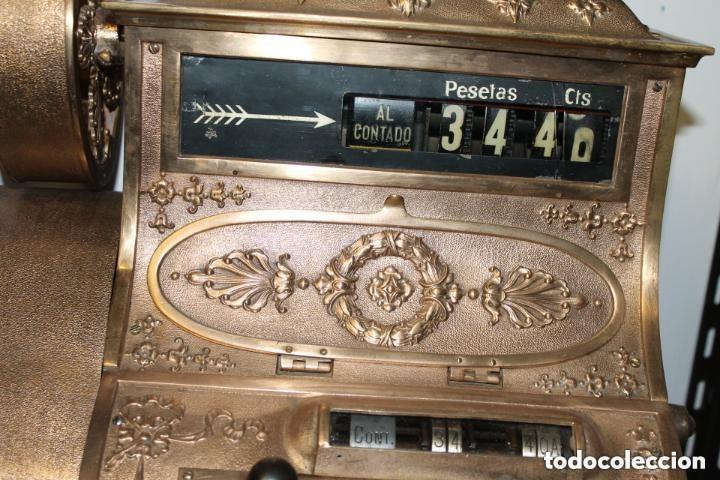 Antigüedades: REGISTRADORA NATIONAL, HACIA 1915, PARA MERCADO ESPAÑOL - Foto 6 - 166042718