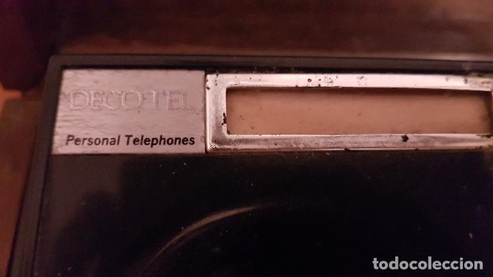 Teléfonos: ANTIGUO TELEFONO PERSONAL DECOTEL EN CAJA DE MADERA - Foto 3 - 166048314