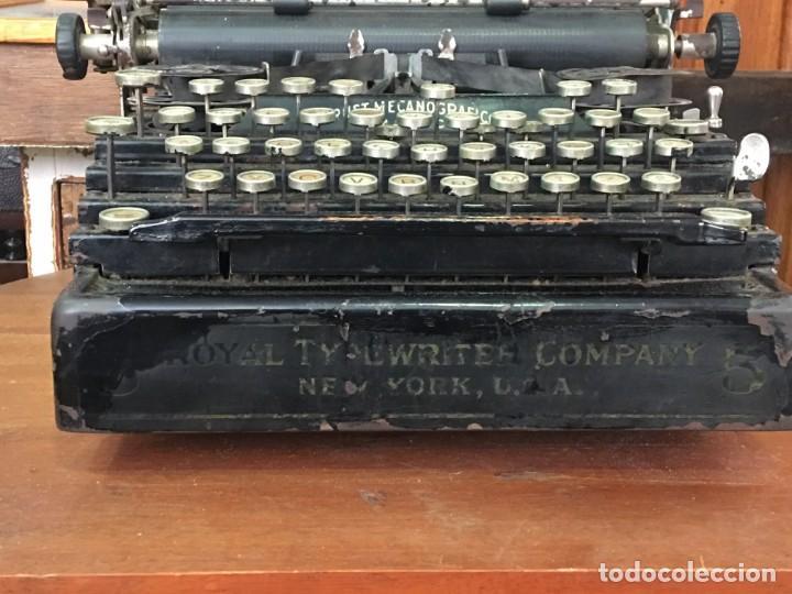 Antigüedades: Maquina de escribir Royal New York - Foto 3 - 166054590