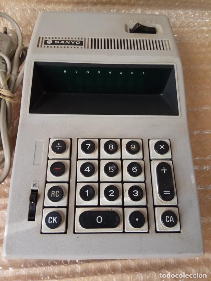 CALCULADORA ELECTRICA SANYO MODEL ICC - 805 (Antigüedades - Técnicas - Aparatos de Cálculo - Calculadoras Antiguas)