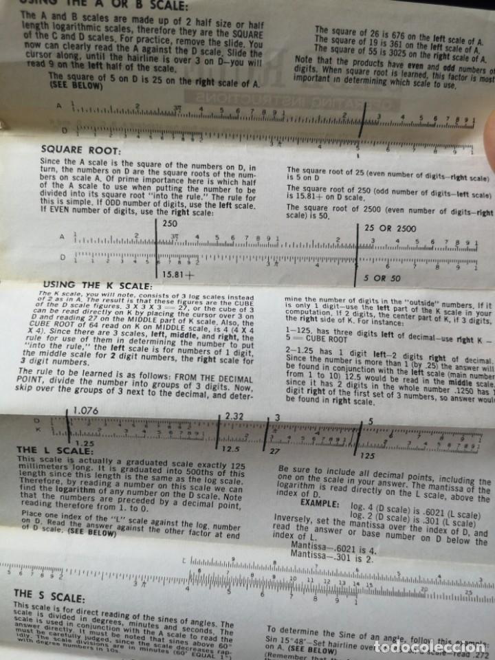 Antigüedades: Antigua regla de cálculo sterling N. 587 - Foto 8 - 166146662