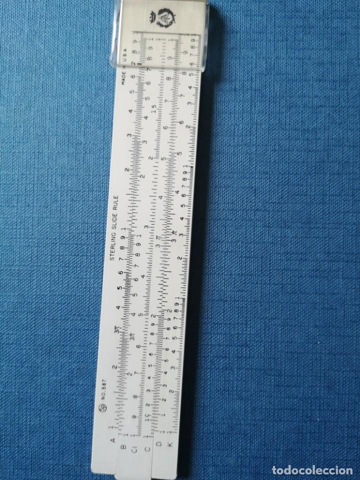 Antigüedades: Antigua regla de cálculo sterling N. 587 - Foto 9 - 166146662