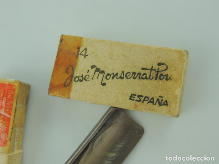 Antigüedades: NAVAJA AFEITAR FILARMONICA, Nº 14, DOBLE TEMPLE, JOSE MONSERRAT POU - Foto 4 - 166424294
