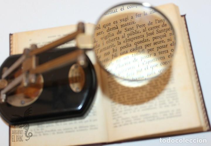 Antigüedades: LUPA CON SOPORTE GRADUAL PARA ESCRITORIO - Foto 2 - 194603983