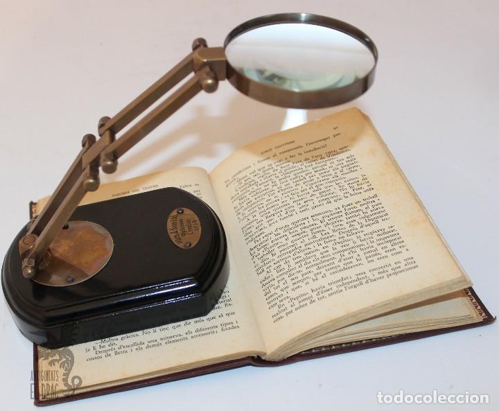 LUPA CON SOPORTE GRADUAL PARA ESCRITORIO (Antigüedades - Técnicas - Instrumentos Ópticos - Lupas Antiguas)