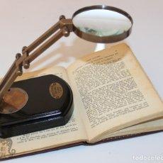 Antigüedades: LUPA CON SOPORTE GRADUAL PARA ESCRITORIO. Lote 166483105