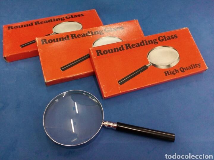 LOTE 3 LUPAS ,ROUND READING GLASS , AÑOS 1970 (Antigüedades - Técnicas - Instrumentos Ópticos - Lupas Antiguas)