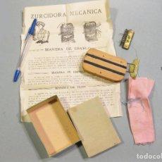 Antigüedades: ZURCIDORA MECÁNICA. PARA ZURCIR, CALCETINES MEDIAS Y OTROS TEJIDOS.. Lote 166600982