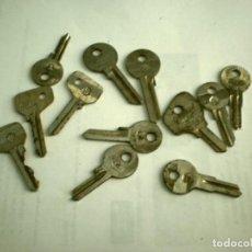 Antigüedades: LOTE 12 LLAVES KEYSA - ALGUNAS DE ELLAS VÍRGENES (VER FOTOS Y DESCRIPCIÓN, LEER MODELOS). Lote 166681570