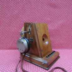 Teléfonos: RARO Y ANTIGUO TELEFONO INTERCOMUNICADOR DE MADERA TIPO MILDÉ, SOBRE 1920.. Lote 166697466