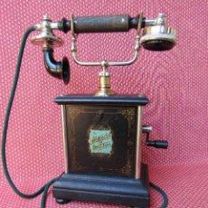 Teléfonos: ANTIGUO TELEFONO DE LA MARCA L. M. ERICSSON (CONMEMORA 25 AÑOS DE FABRICACION DEL MOD.ESQUELETO).. Lote 166698598