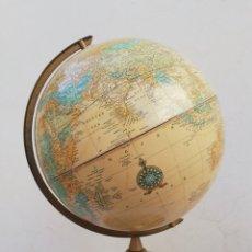 Antigüedades: GLOBO TERRÁQUEO O BOLA DEL MUNDO IMPERIAL DE CRAM'S USA VINTAGE AÑOS 70. Lote 166726857