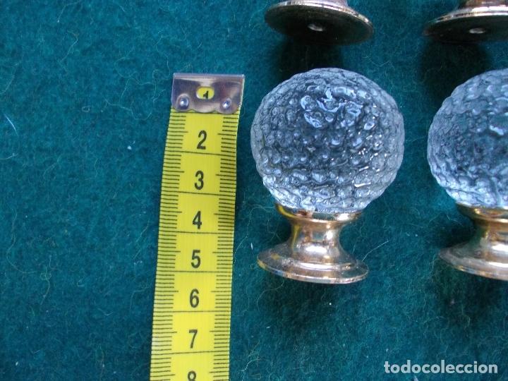 Antigüedades: Tiradores de cristal antiguos lote de 6 - Foto 2 - 166750674