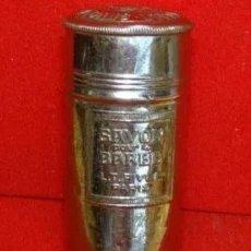 Antigüedades: ANTIGUA CAJA METAL PARA BARRA DE JABON AFEITAR .PARIS. Lote 166865492