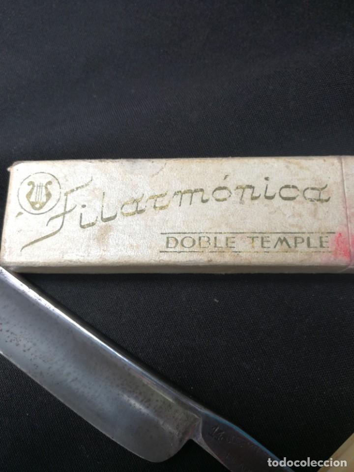 Antigüedades: NAVAJA DE AFEITAR FILARMONICA DOBLE TEMPLE,CON CAJA ORIGINAL,JOSE MONTSERRAT POU - Foto 2 - 166904780