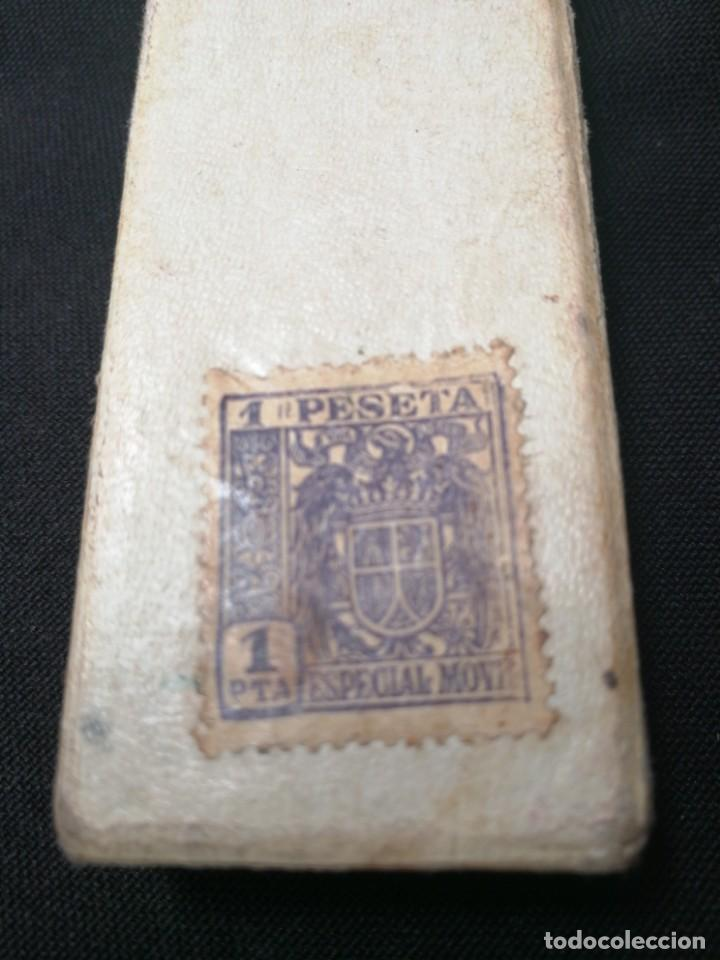 Antigüedades: NAVAJA DE AFEITAR FILARMONICA DOBLE TEMPLE,CON CAJA ORIGINAL,JOSE MONTSERRAT POU - Foto 4 - 166904780
