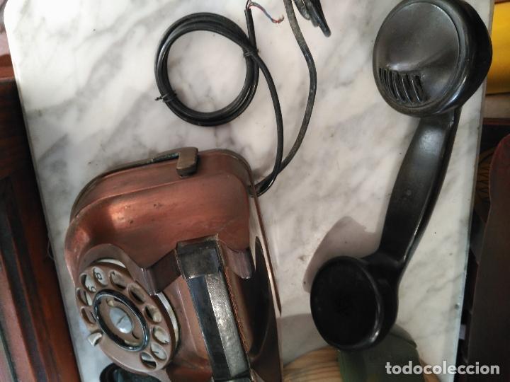 Teléfonos: PRECIOSO Y ANTIGUO TELÉFONO BELGA RTT56 EN METAL ASA EN LATÓN AURICULARES BAQUELITA FUNCIONANDO - Foto 6 - 167032792