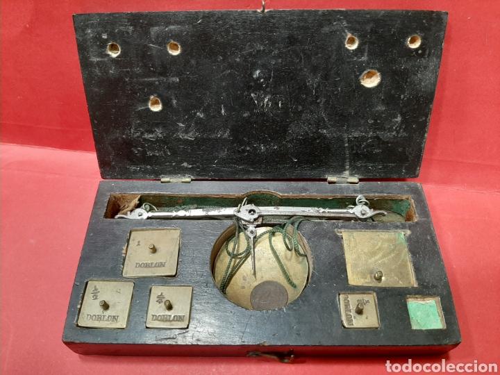 BALANZA ANTIGUA COMPLETA DEL SIGLO XIX. (Antigüedades - Técnicas - Medidas de Peso - Balanzas Antiguas)