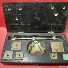 Antigüedades: BALANZA ANTIGUA COMPLETA DEL SIGLO XIX.. Lote 167048144
