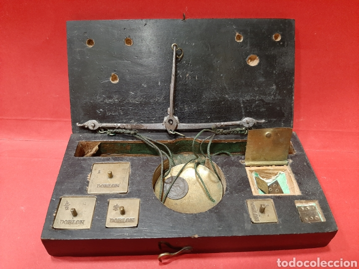 Antigüedades: BALANZA ANTIGUA COMPLETA DEL SIGLO XIX. - Foto 3 - 167048144
