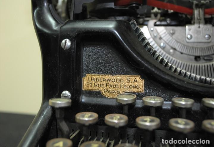 Antigüedades: MÁQUINA DE ESCRIBIR ANTIGUA UNDERWOOD - Foto 3 - 167049904