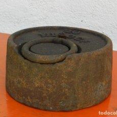 Antigüedades: PESA DE HIERRO 20 KILOS. Lote 167065552