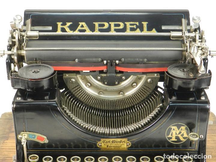 Antigüedades: MAQUINA DE ESCRIBIR KAPPEL Nº1 AÑO 1920 TYPEWRITER SCHREIBMASCHINE - Foto 9 - 167132188