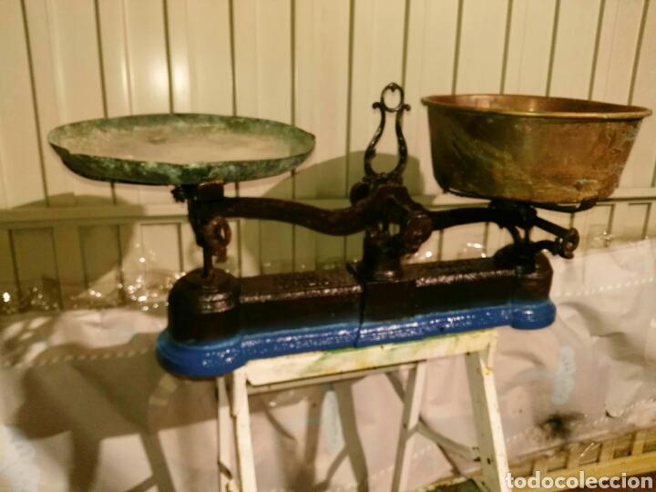 BÁSCULA BALANZA ANTIGUA (Antigüedades - Técnicas - Medidas de Peso - Básculas Antiguas)
