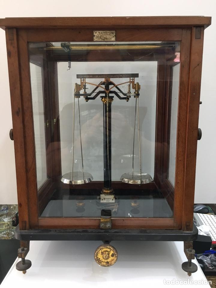 BALANZA DE PRECISION F.SARTORIUS GOTTINGEN-AÑOS 30 (Antigüedades - Técnicas - Medidas de Peso - Balanzas Antiguas)