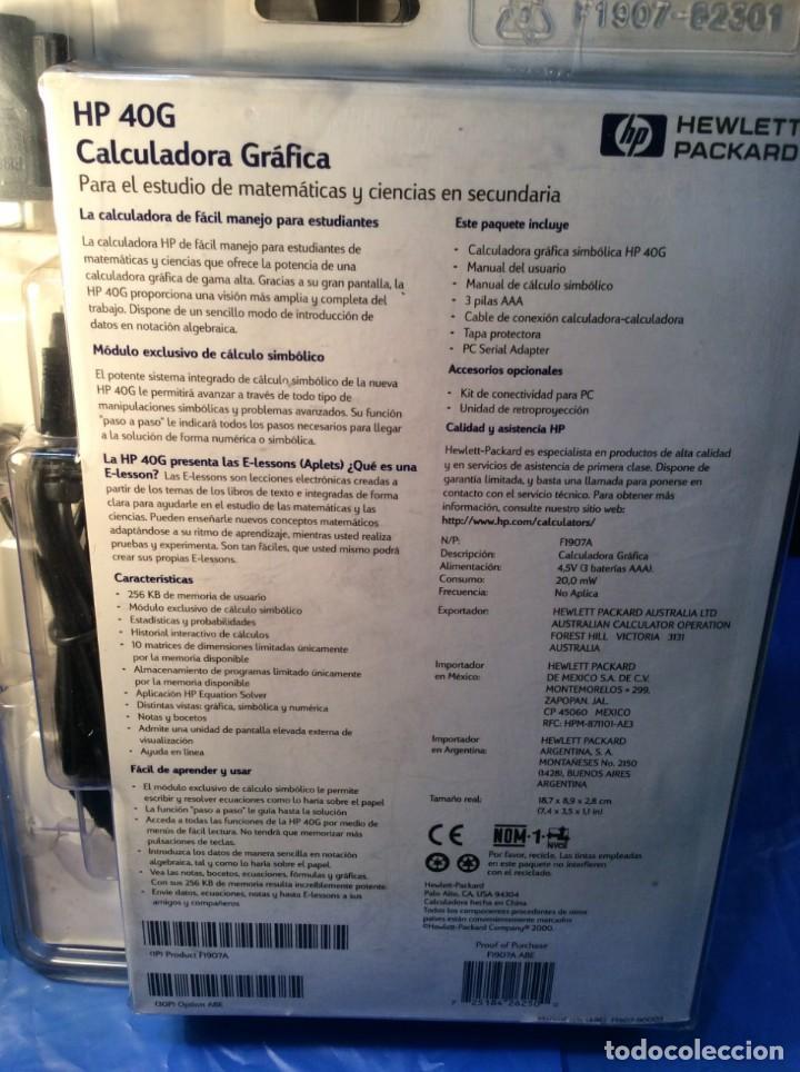 Antigüedades: CALCULADORA GRAFICA HP 40G -¡¡ VINTAGE !! - (VER FOTOS) ¡¡NUEVO!! - Foto 7 - 167543840