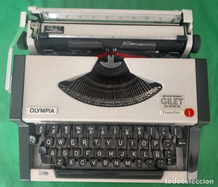 Antigüedades: Maquina de escribir olympia traveller (VER FOTOS) - Foto 2 - 167553560