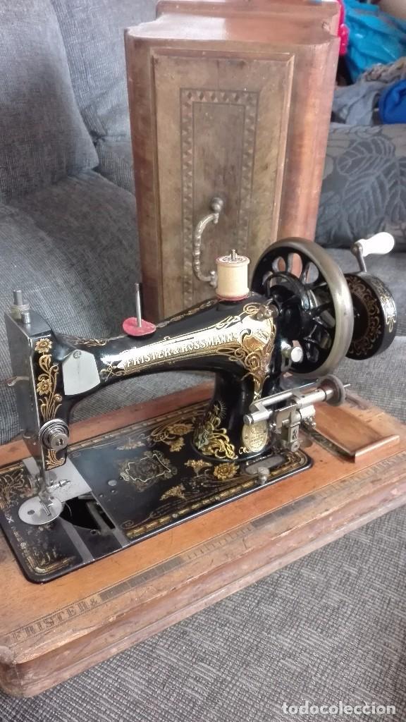 MÁQUINA DE COSER FRISTER & ROSSMANN.1900.BERLÍN (Antigüedades - Técnicas - Máquinas de Coser Antiguas - Frister & Rossmann)