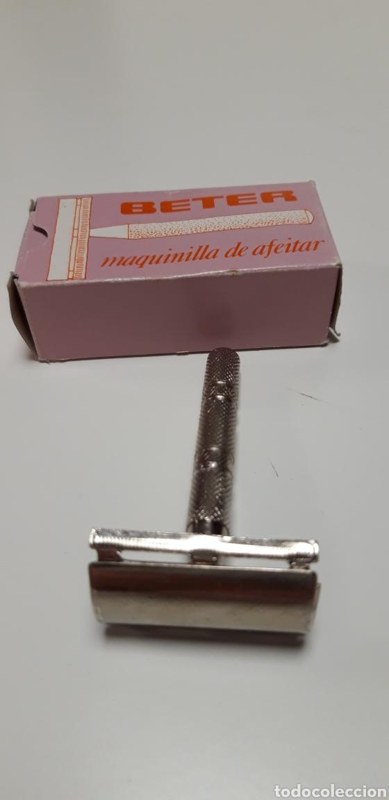 Antigüedades: Maquinilla de afeitar beter en caja - Foto 2 - 167729944